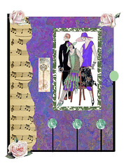 fashion 2 (ladybumblebee) Tags: art digitalart fashion collage contemporaywomenartists digitalcollage vintage