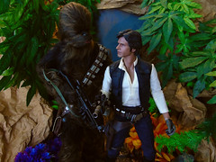 Snap! (Blondeactionman) Tags: bamhq diorama doll photography playscale one six scale hottoys star wars han solo chewbacca