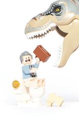 LEGO Donald Gennaro Vs T-Rex (weeLEGOman) Tags: lego donald gannaro jurassic park minifigure minifigures trex dinosaur toy macro photography toilet uk nikon d7100 105mm robert rob trevissmith weelegoman
