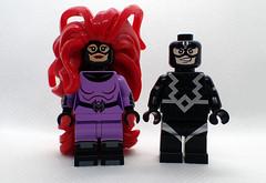 Medusa (Alien Hand) Tags: marvel inhumans lego dcb diamond custom bricks medusa black bolt pad print