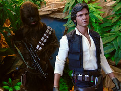 C'mon! (Blondeactionman) Tags: bamhq diorama doll photography playscale one six scale hottoys star wars han solo chewbacca