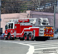 Yonkers Fire Department Ladder 74 (Seth Granville) Tags: yonkers fire department ladder 74 2017 ferrara inferno truck 102 aerial