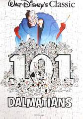 Disney Movie Poster:  101 Dalmatians (300pcs) (Zom_Zorrow) Tags: jigsaw puzzle disney movie poster 101 dalmatians animated dogs white vil de cruella comedy puppies