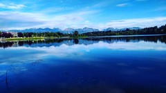blue calm (enter SAIDMAN) Tags: alaska anchorage lake reflection reflejo lago azul blue