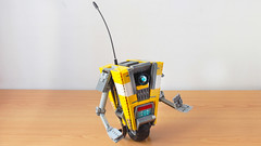 Lego Claptrap from Borderlands (hachiroku24) Tags: lego borderlands claptrap robot moc creation instructions videogame character