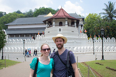 Me and Lizzy at the Temple of the Tooth - Kandy, Central Province, Sri Lanka (Nature21290) Tags: april2019 centralprovince chris kandy lizzy srilanka2019 templeofthetooth