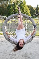 Morgane (fab spotter) Tags: shooting younggirl blond brunette morgane mégane dress extérieur strobism grass ciel soleil sexy eau water lake