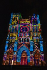 Amiens Cathedral at Night (t4raw) Tags: amiens church night illuminated