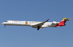 EC-MXA Bombardier CRJ1000 Iberia Regional opb Air Nostrum Valencia CF FRA 2019-08-11 (8a) (Marvin Mutz) Tags: ecmxa iberia regional bombardier crj1000 fra aviation planespotting avgeek aircraft airplane aeroplane plane pilot cockpit crew passenger travel transport jet jetliner airline airliner wings engines airport runway taxiway apron clouds sky flight flying football soccer special livery frankfurt main germany