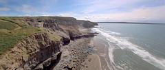 Druidston (sffubs) Tags: 2019 pembrokeshire wales uk beach cliff cliffs sky bluesky waves sea seaside holiday drone quadcopter runcamsplitminiv2 aftershot aftershot3 aftershotpro aftershotpro3 framegrab runcam
