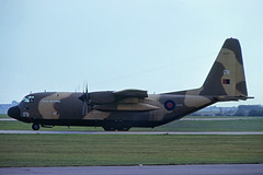 XV179. Crashed  30-1-2005. Hit by insurgent fire which caused a fire and explosion in the right wing fuel tank during take-off from Baghdad AP, Iraq killing all 10 on board. (Gerrit59) Tags: c130k c1