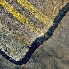End of the Road (No Great Hurry) Tags: thenakedabstract abstract yellowlines road endoftheline endoftheroad tarmac foundabstract urbanabstract nogreathurry square robinmauricebarr roadmarkings lines texture yellow blackline boylefamily x100f surface boyle