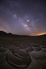 MILKY WAY AND MUD CRACKS (Jeff Berkes Photography) Tags: mudcracks mudcrack milkyway deathbvalleynps deathvalley usinterior nationalpark california stars night sky landscape scenic outdoors nature space milky way