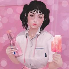 【break time!】 (Sooyun Ichtama) Tags: 700xuzu avoixs bomi cestlavie catwa foxcity lv100 michan namiichu okinawasummerfestival pink pinkfuel powderpack reign secondlife sl