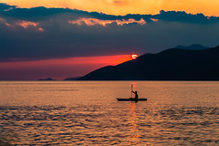 Canoeing at sunset (Vagelis Pikoulas) Tags: porto germeno greece sea seascape landscape silhuette august 2019 summer canon 6d tamron 70200mm vc