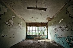 Outlook (Ralph Graef) Tags: abandoned urbex decay derelicted dilapidated disused rotten lamp window symmetry desolation