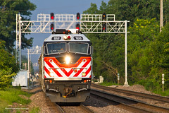 Metra BNSF West Line - Downers Grove (tim_1522) Tags: railroad railfanning rail illinois il bnsf burlingtonnorthernsantafe bn burlingtonnorthern racetrack chicago sub subdivision metra commuter amtrak passenger superliner