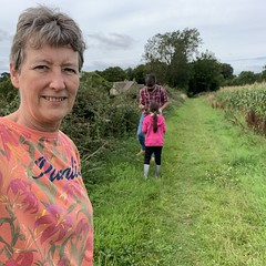 227 2019 Bea, James & me blackberrying (Margaret Stranks) Tags: 227365 365days 2019 pickingblackberries quenington
