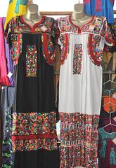 Embroidered Dresses Oaxaca Mexico Vestidos (Teyacapan) Tags: vestidos embroidered dresses mexican oaxaca sanantonino ropa markets clothing