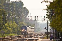 A Late Number 6 (tim_1522) Tags: railroad railfanning rail illinois il bnsf burlingtonnorthernsantafe bn burlingtonnorthern racetrack chicago sub subdivision amtrak passenger superliner p42dc generalelectric