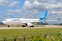 C-GGTS Air Transat Airbus A330 EGCC 20/6/19 (David K- IOM Pics) Tags: man manchester airport airbus a330 ringway egcc 23l air ts tsc transat a330200 a332 a330243 cggts