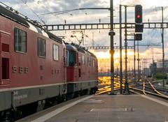 Re 420: Duo in action (2/3) (jaeschol) Tags: bbc bahnhof eisenbahn elektrischelokomotive europa europe kontinent lokomotive re420 re420194 saas sbb slm schweiz suisse switzerland transport zürichhb chemindefer railroad railway