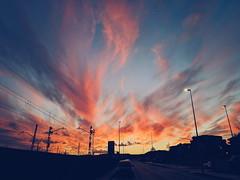 Light and Darkness (Dibus y Deabus) Tags: gijon asturias españa spain cielo sky nubes clouds atardecer sunset vsco pocophonef1 cityscape paisajeciudad