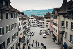 Central square of Rapperswil (ruf450) Tags: xpro2 rapperswil switzerland city lake oldtown getoutside travel sightseeing fujifim