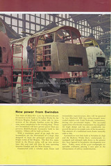 New power from Swindon : page from BTC 'Transport Age ' magazine, 1961 (mikeyashworth) Tags: transportage magazine britishrailways britishtransportcommission 1961 swindonworks locomotiveconstruction dieselhydrauliclocomotives d1000classlocomotives westernclasslocomotives class52locomotives britishrail westernregion class42locomotives d800classlocomotives warshipclasslocomotives mikeashworthcollection swindon wiltshire workshops railwayworkshops railwayrollingstock modernisationplan