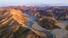 Iceland Landmannalaugar DJI Inspire 2 Drone (www.mikereidphotography.com) Tags: iceland drone landmannalaugar inspire2 x5s dji aerial valley river landscape