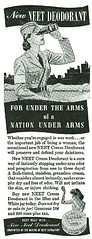 Under the arms of a nation under arms! Neet deodorant, 1942 (gameraboy) Tags: vintage ad ads advertising advertisement vintagead vintageads 1942 1940s