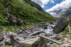 Eisenbrücke (sMäc) Tags: wandern brücke zervreilahorn hiking valsertal valserrhein berge mountains zervreila vals alpen
