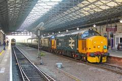 37407+37059 at Huddersfield with 1Z44 0550 Huddersfield - Paignton 25/05/19. (chrisrowe37419) Tags: