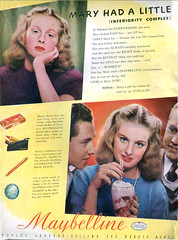 Maybelline ad, 1942 (gameraboy) Tags: vintage ad ads advertising advertisement vintagead vintageads 1942 1940s