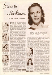 Steps to Loveliness, 1942 (gameraboy) Tags: vintage ad ads advertising advertisement vintagead vintageads 1942 1940s
