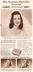 Camay Mild-Soap Diet 1942 (gameraboy) Tags: vintage ad ads advertising advertisement vintagead vintageads 1942 1940s