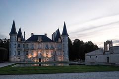 At Blue Hour (ZeGaby) Tags: fujinon27mm fujifilm xt1 bordeaux châteaupichonlonguevillebaron wine architecture vineyards