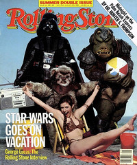 Star Wars Goes on Vacation - cover (gameraboy) Tags: starwars 1983 1980s vintage slaveleia carriefisher cheesecake bikini goldbikini darthvader rollingstone