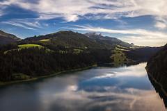 Lac de l'Hongrin (Olivier Rapin) Tags: cantondevaud montagne see suisse air lac reflet mavic drone romandie dji