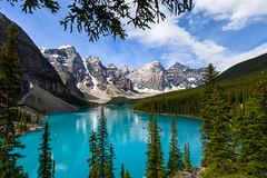 Moraine Lake - Banff National Park (ChuckPalmer {cepalm}) Tags: banff banffnationalpark canada morainelake travel glacier mountains sky water chuckpalmer