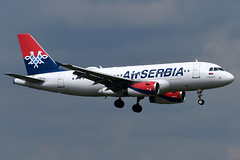 YU-APC Air Serbia Airbus A319-131 at London Heathrow Airport on 3 August 2019 (Zone 49 Photography) Tags: aircraft airliner aeroplane august 2019 london england egll lhr heathrow airport ju asl air serbia airbus a319 319 100 131 yuapc