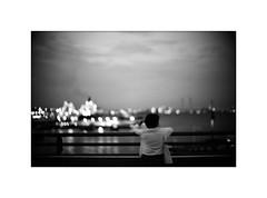 *Harbor lights. (niko**) Tags: leica leicam2 noctilux50mmf10 ilford panfplus50 135 35mm filmphotography yokohama