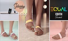EQUAL - Edith Sandals (EQUAL SL) Tags: secondlife shoes slink maitreya belleza legacy sale saturday equal summer