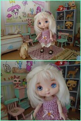 my new little one Fable (Belladona Blythe and Friends) Tags: 16cm tiny hand made clothes
