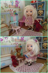 Fable looking round her new home  ^__^ (Belladona Blythe and Friends) Tags: 16cm tiny clothes handmade
