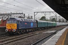 ROG Class 47 47815 + MK1 ADB 977087 + ADB 975875 + Arlington Fleet Services Class 489 GLV 68504 + TPE Class 397 397008 + ROG Class 57 57305 (Adam Fox - Plane and Rail photography) Tags: 5l68 0855 portbury automotive terml manchester int dpt fl 16082019 here it departs stockport northern princess lost boys 6888 duff duffs zombie zombies glv general luggage van br british rail railways train transpennine express tpe brand new delivery wcml west coast mainline main line diesel loco locos locomotives locomotive electric multiple unit railway railroad tracks
