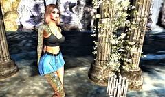 Iris (♥✭ Cin Coage ✭♥) Tags: secondlife sl sexy brunette blueberry truth maitreya pose beautiful