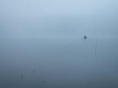 no wake zone (dajonas) Tags: michigan august summer fog morning lake