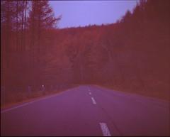 (✞bens▲n) Tags: mamiya 7ii astia 100 80mm f4 film analogue 6x7 japan nagano mountains road autumn