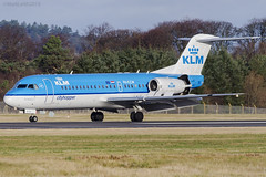 Photo of KLM Royal Dutch Airlines, Fokker 70, PH-KZW.